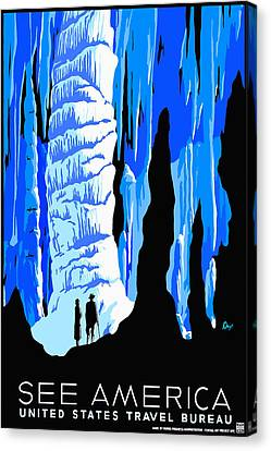 See America Cave Canvas Print by David Wagner