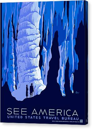 See America - Vintage 1930s Travel Poster Canvas Print by Mark E Tisdale