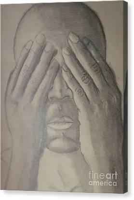 Moroccan Canvas Print - See No Evil by Ibz Elbahja