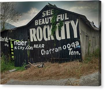 See Rock City Barn Canvas Print by Janice Spivey