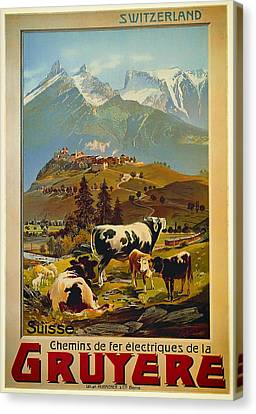 See Switzerland 1906 Canvas Print by Mountain Dreams