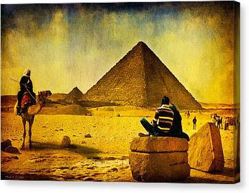 Pharaoh Canvas Print - See The Pyramids - Egyptian Adventure by Mark E Tisdale