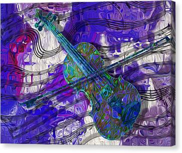 See The Sound 3 Canvas Print by Jack Zulli