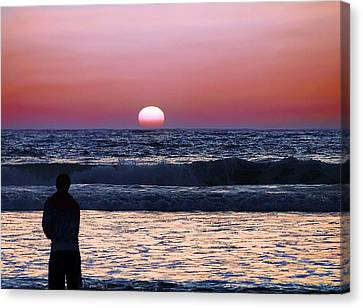 See The Sun Set Canvas Print by Camille Lopez