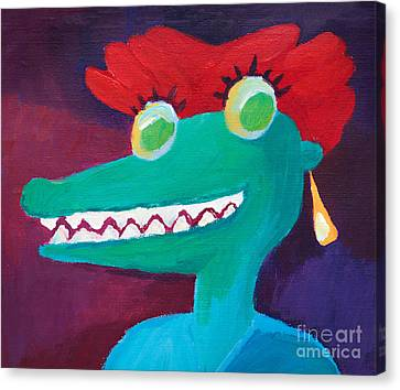 Alligator Canvas Print - See You Later Alligator by Lutz Baar