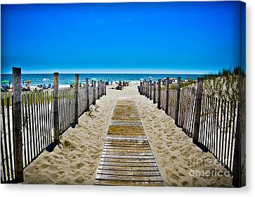 See You On The Beach Canvas Print by Gary Keesler