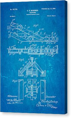 Seeberger Escalator Patent Art 1899 Blueprint Canvas Print by Ian Monk