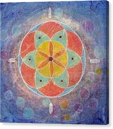 Seed Of Life Mandala Canvas Print by Janelle Schneider