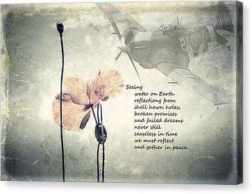 Seeing. A Poem Of Remembrance  Canvas Print by Spikey Mouse Photography