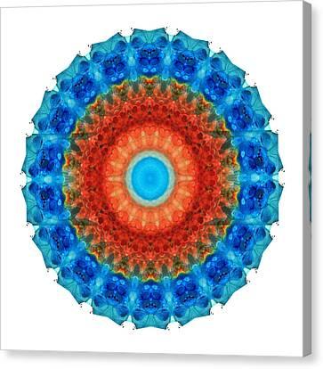 Seeing Mandala 2 - Spiritual Art By Sharon Cummings Canvas Print by Sharon Cummings