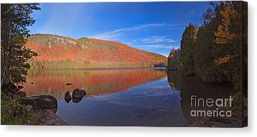 Seeing Red At Jobs Pond Canvas Print