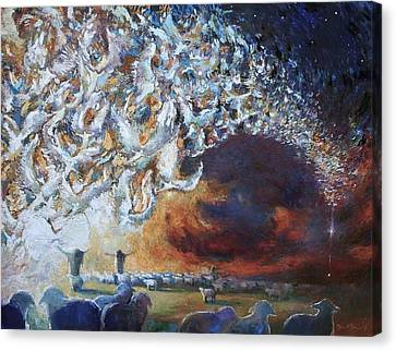 Sacred Canvas Print - Seeing Shepherds by Daniel Bonnell