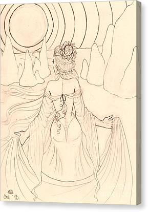 Seeing Spirits Sketch Canvas Print by Coriander  Shea