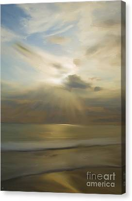 Sun Rays Canvas Print - Seek And You Shall Find by Liane Wright