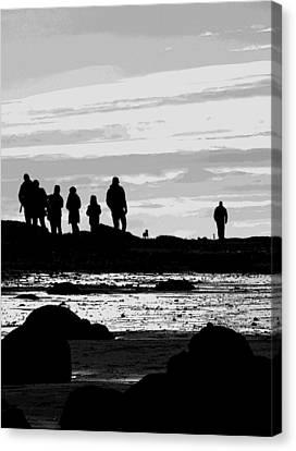 Seeker Silhouette Canvas Print