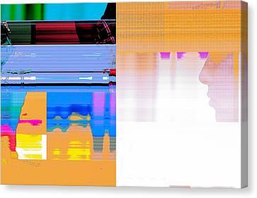 Seeking Encounter Number Eleven  Digital Art By Maria Lankina Canvas Print by Maria  Lankina