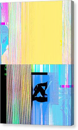 Seeking Encounter Number Nine Digital Art By Maria Lankina Canvas Print by Maria  Lankina