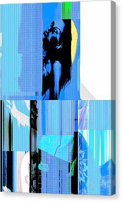 Seeking Encounter Number Six Digital Art By Maria Lankina Canvas Print by Maria  Lankina