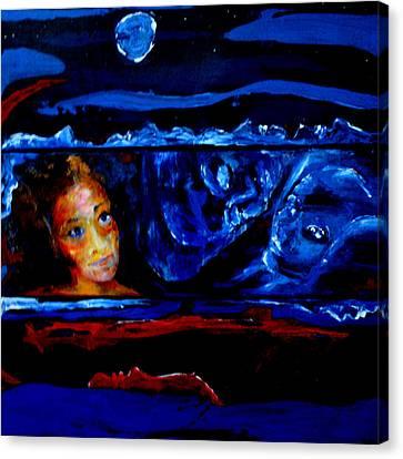 Seeking Sleep Trilogy Canvas Print