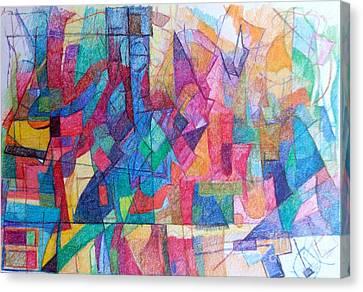 Seeking The Path To The Next World 1 Canvas Print by David Baruch Wolk