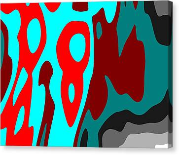 Canvas Print featuring the digital art Seen Differently by Jeff Iverson