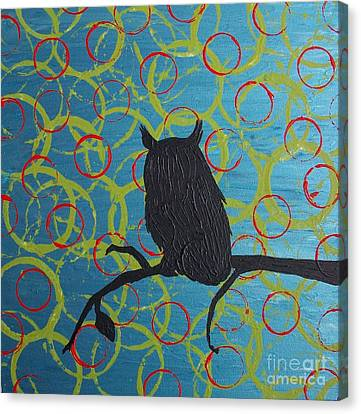 Canvas Print featuring the painting Seer by Jacqueline McReynolds