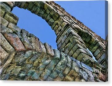 Segovia Aqueduct Arch By Diana Sainz Canvas Print by Diana Sainz