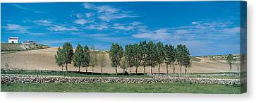 Plowed Fields Canvas Print - Segovia Spain by Panoramic Images