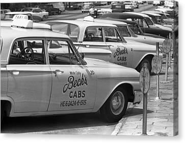 Segregated Taxi Cab Canvas Print by Warren Leffler