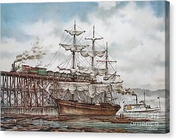Sehome Coal Wharf Canvas Print by James Williamson