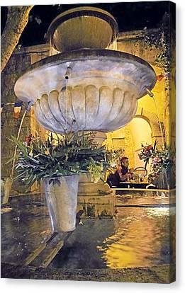 Seillans Village Fountain Canvas Print