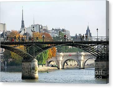 Seine Bridges In Paris Canvas Print by Elena Elisseeva