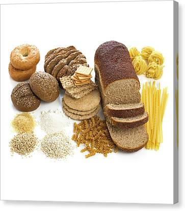 Selection Of Breads And Pastas Canvas Print by Science Photo Library