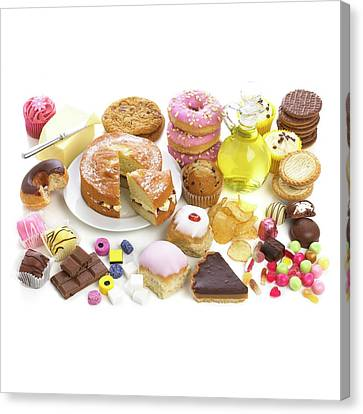 Selection Of Sweet Foods Canvas Print by Science Photo Library