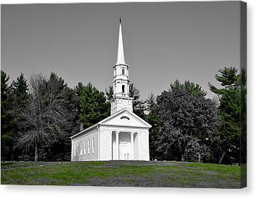 Martha Mary Chapel Canvas Print - Selective Color Chapel by Brian Mooney