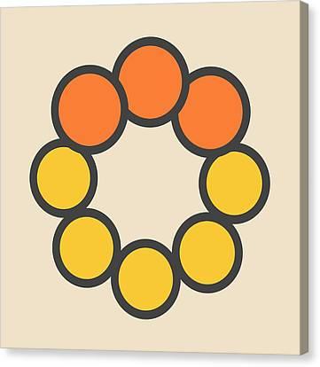 Selenium Disulfide Molecule Canvas Print by Molekuul