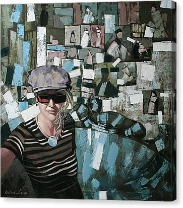 Canvas Print featuring the painting Self by Anastasija Kraineva