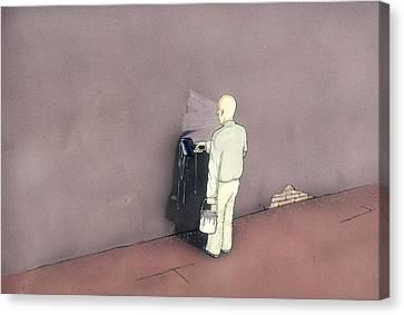 Censorship Canvas Print - Self-censorship by Peiman Rezaei