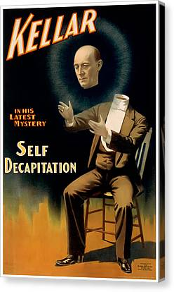 Self Decapitation Canvas Print by Terry Reynoldson
