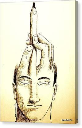 Self-expression Canvas Print by Paulo Zerbato