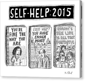 Self Help: 2015 -- Three Books With Titles That Canvas Print