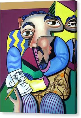 Self Portrait 101 Canvas Print by Anthony Falbo