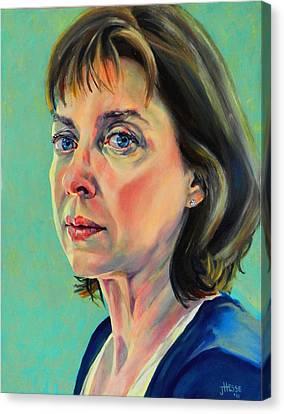 Self Portrait 2011 Canvas Print by Jolante Hesse