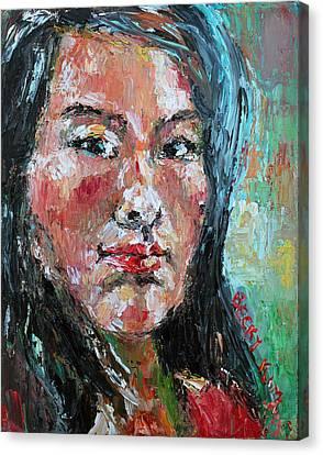 Self Portrait 2013 - 1 Canvas Print by Becky Kim
