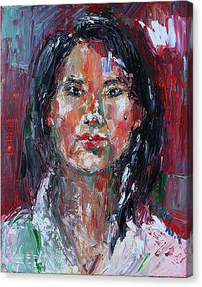 Self Portrait 2013 -2 Canvas Print by Becky Kim