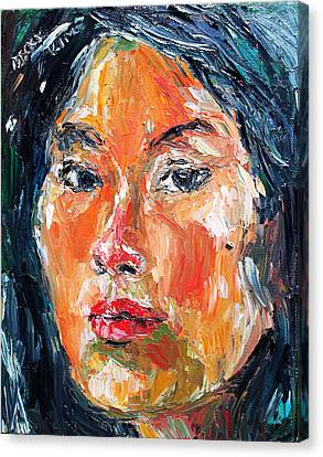 Self Portrait 2013 -3 Canvas Print by Becky Kim