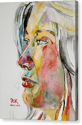 Self Portrait 4 Canvas Print by Becky Kim