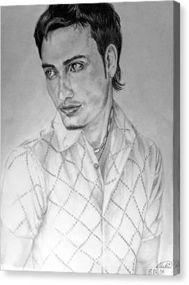Self-portrait Canvas Print - Self Portrait by Alban Dizdari