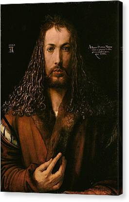 Self Portrait At The Age Of Twenty Eight 1500 Canvas Print by Philip Ralley