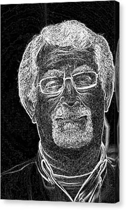 Canvas Print featuring the photograph self portrait BW by Gary Brandes